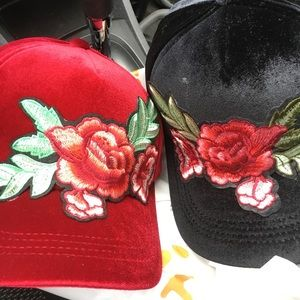 Accessories - Women Suede Embroidery Flower Baseball Cap
